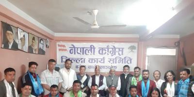काँग्रेसद्वारा नेपाल पत्रकार महासंघका नवनिर्वाचित पदाधिकारीहरुलाई सम्मान
