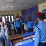 बागमती प्रदेश प्रहरी प्रमुखद्वारा प्रहरी कार्यालय काभ्रेको निरीक्षण