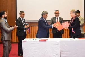 काठमाडौं विश्वविद्यालय र नर्वेबीच ३० करोड ६० लाख सहयोग सम्बन्धी सम्झौता