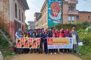 विश्व पोलियो दिवसमा पनौतीमा र्याली तथा अन्तक्रिया कार्यक्रम सम्पन्न