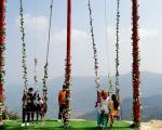 देवीस्थानमा पर्यटक: चुच्चे ढुङ्गामा सेल्फीदेखि घोडचडी र पिङको मज्जा लिन पाइने